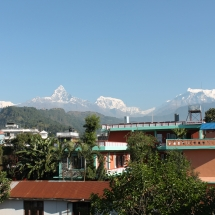 Mountain view from New Pokhara Lodge