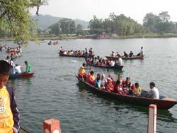 Boating in Fewa Lake Pokhara