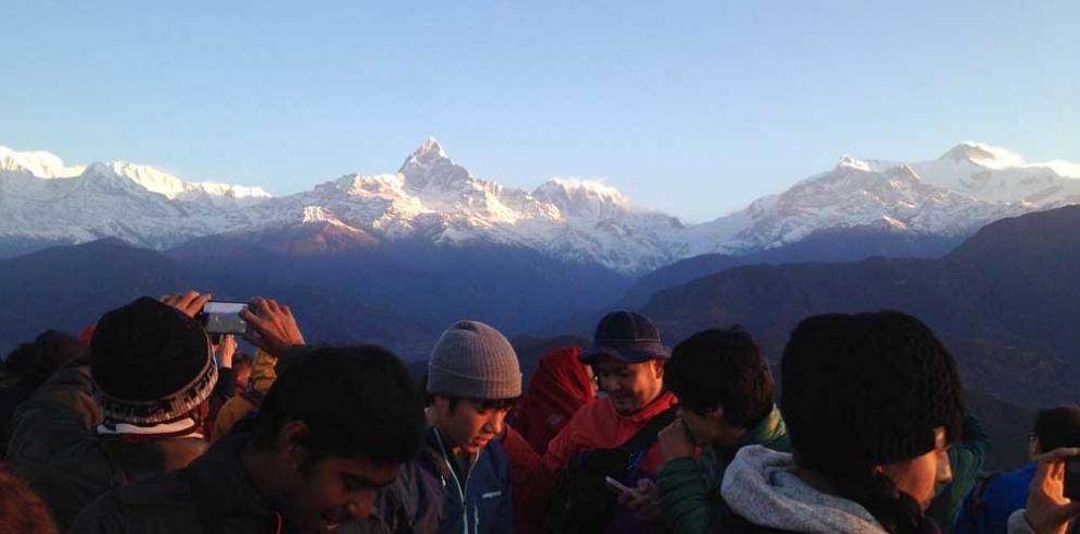 Mountain view from Sarangkot Pokhara