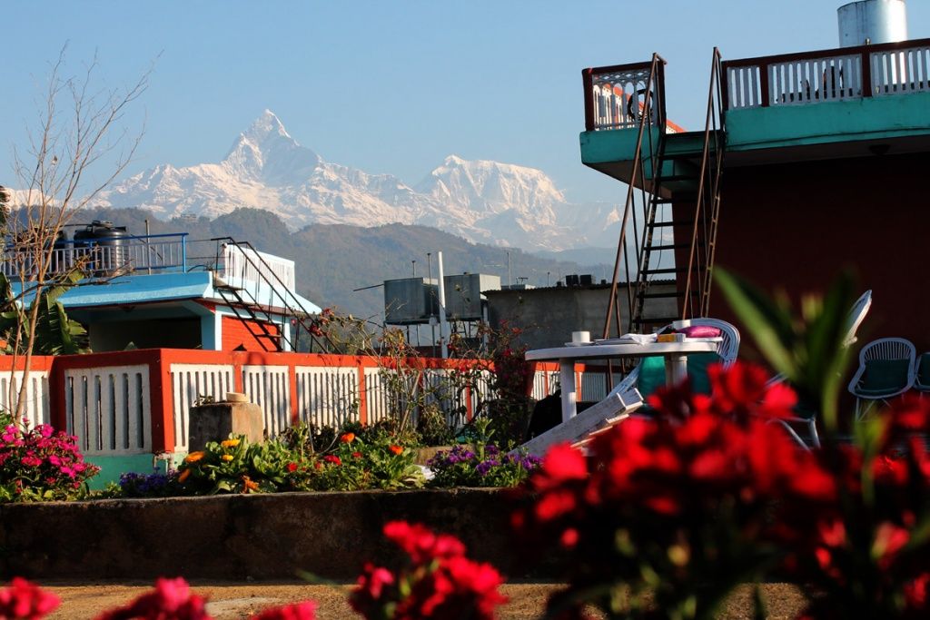 Español - vista desde la montaña, Hotel, lugar para alojarse,Lakeside, Pokhara Nepal,