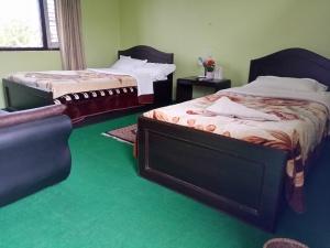 A room of a hotel in Lakeside Pokhara near Fewa Lake.