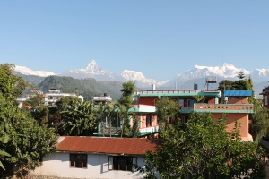 Very Beautiful hotel with beautiful mountain view at Lakeside Pokhara - New Pokhara Lodge