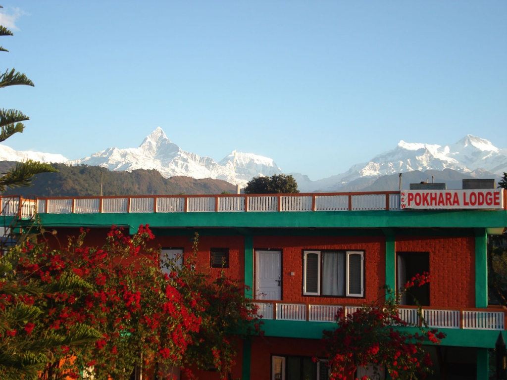 All mountain view from a hotel Pokhara