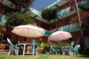 A beautiful building picture of a Hotel from Lakeside Pokhara