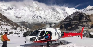 Helicopter visit ABC, Annapurna Base Camp